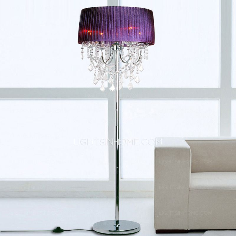 Crystal Elegant Modern Purple Floor Lamps Home Decor – Purple Chandelier Lighting