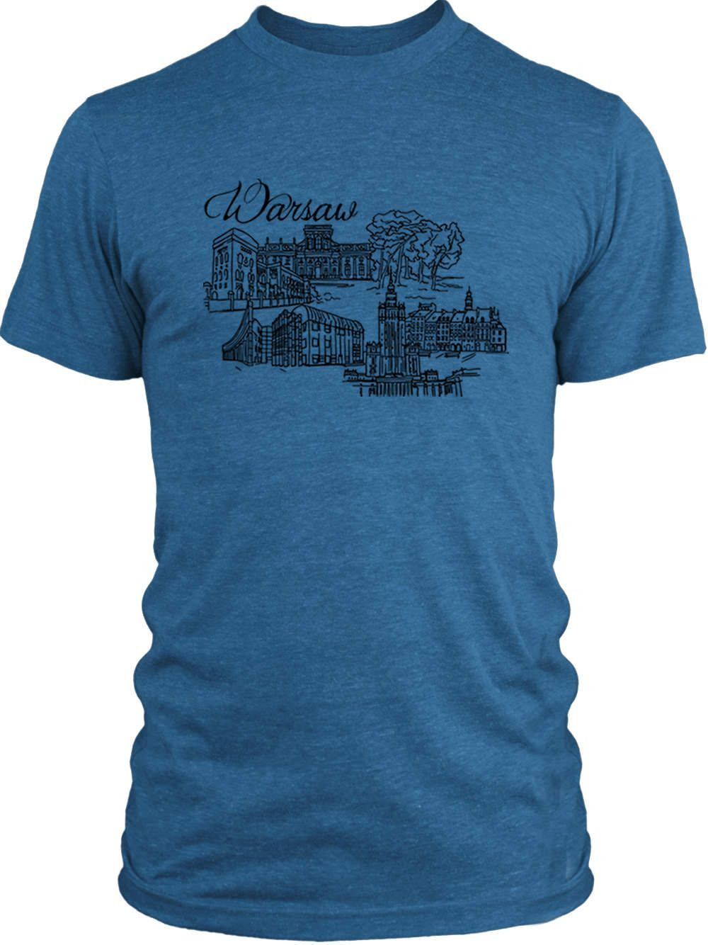 Big Texas The Beautiful City of Warsaw (Black) Vintage Tri-Blend T-Shirt