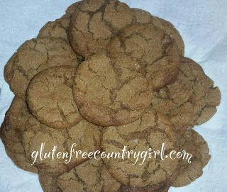 Gluten Free Country Girl: Gluten Free Molasses Cookies