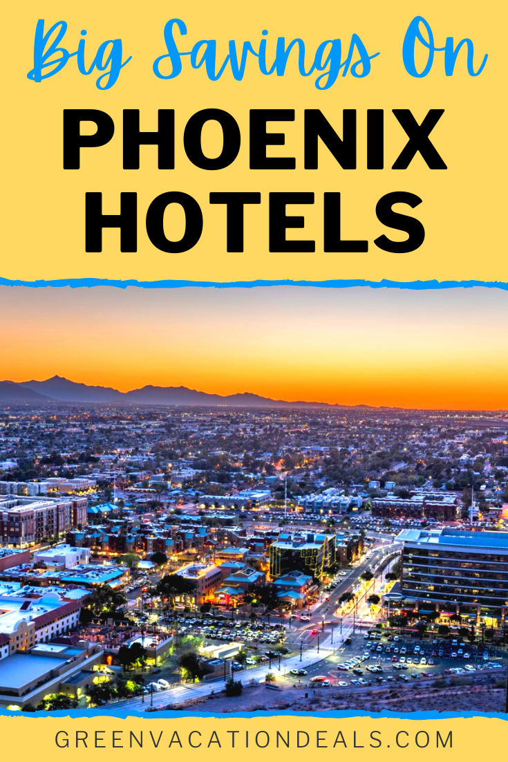 Book Phoenix, Arizona hotels at a discounted nightly rate under $100/night near Sky Harbor Airport, Chandler Fashion Center, Old Scottsdale, Downtown, etc. #Phoenix #PhoenixAZ #Arizona #hoteldeals #traveldeals #hotelsale #travelsale #SonoranDesert #citybreak #UStravel #travel #Scottsdale #Chandler #DeerValley #HappyValley #Mesa #OldScottsdale