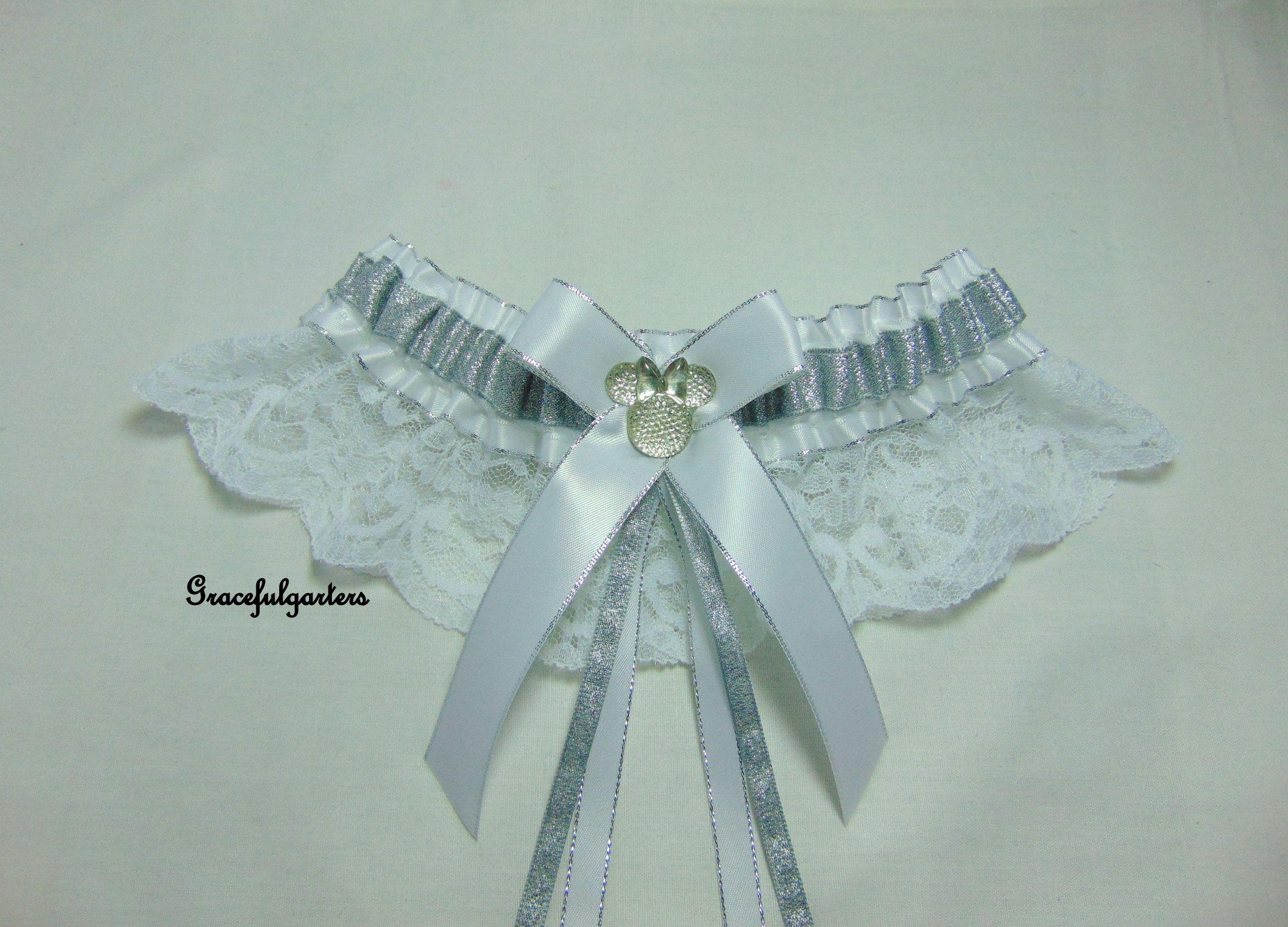White Satin Bow Garter