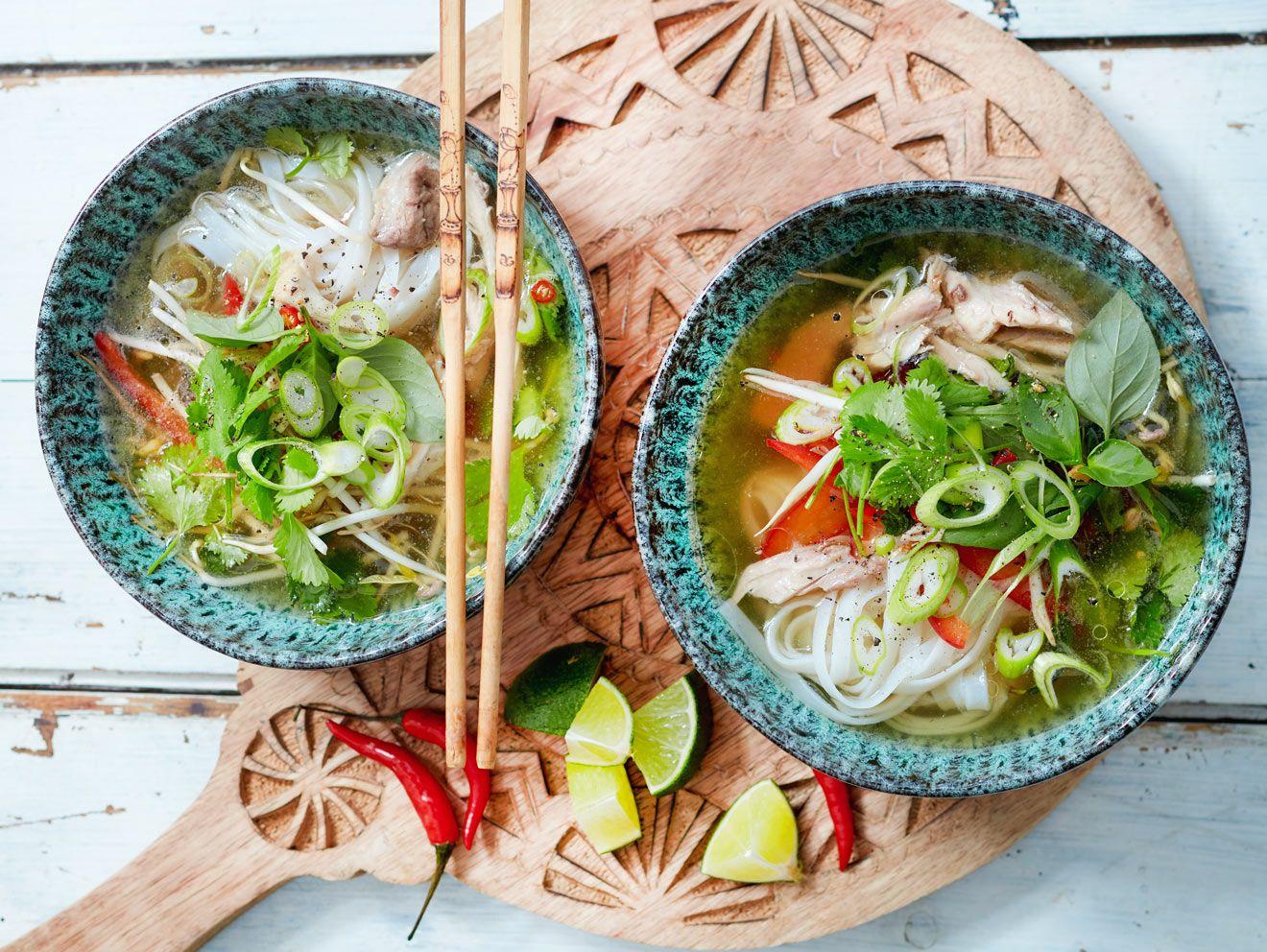 Pho Suppe   Rezept für die vietnamesische Nudelsuppe   LECKER ...