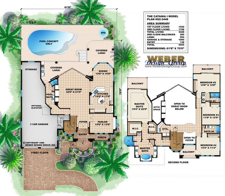 Beach House Plan Luxury Mediterranean Tuscan Beach Home Plan My House Plans House Plans Beach House Plan