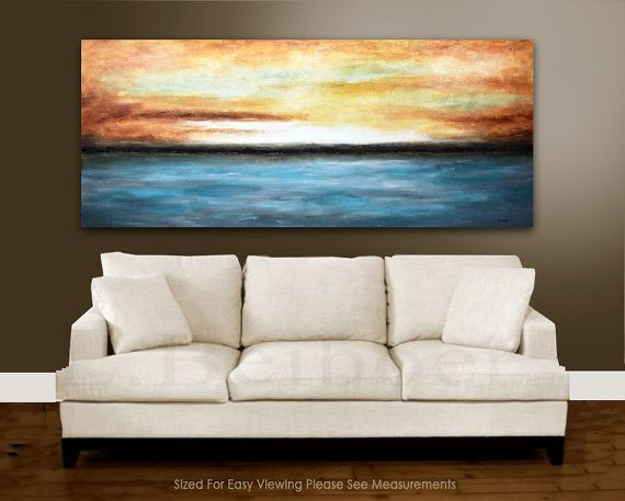 Xxl landscape painting original 6 foot large by rawartgallery