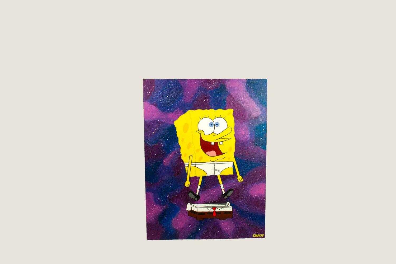 SpongeBob No Pants! // Pop Art, Painting, 32X40, Acrylic Painting ...