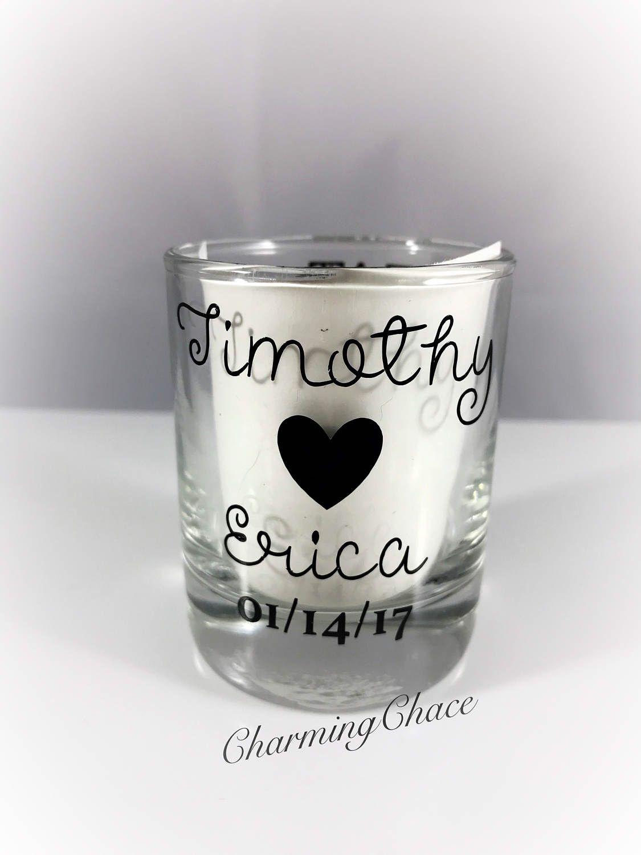 Wedding Shot Glasses - Wedding Favors - Personalized Shot Glasses ...