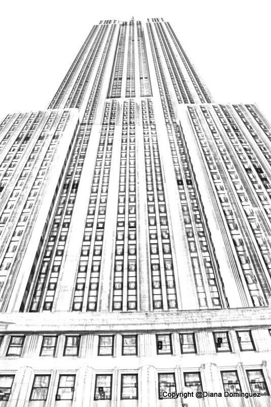 Sketch NYC The Empire State Building Sketch | City | Pinterest ...