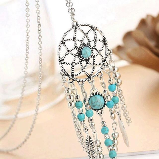 You are going to love our turquoise  dreamcatcher necklace🙏 It is now 50% OFF on our site! Tag a friend who would love this💙