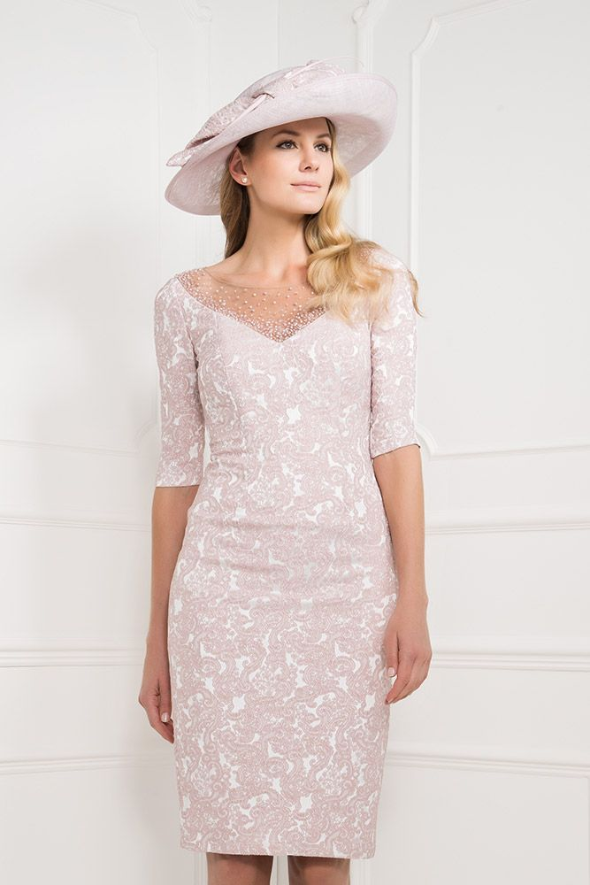 Pink and Silver Mother of the Bride Dresses