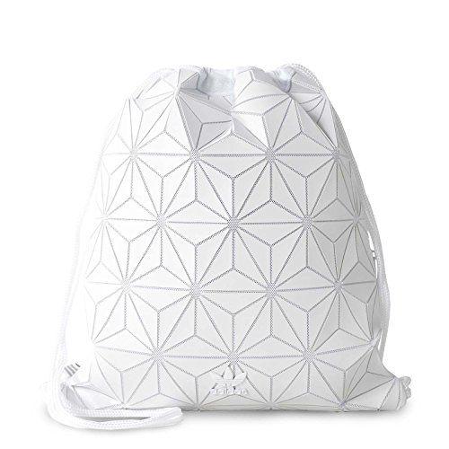 b8cb0ca63c8c adidas Originals 3D White Geographic Shapes Gym Sack Bag BP BJ9572        AMAZON BEST BUY     AdidasFashion