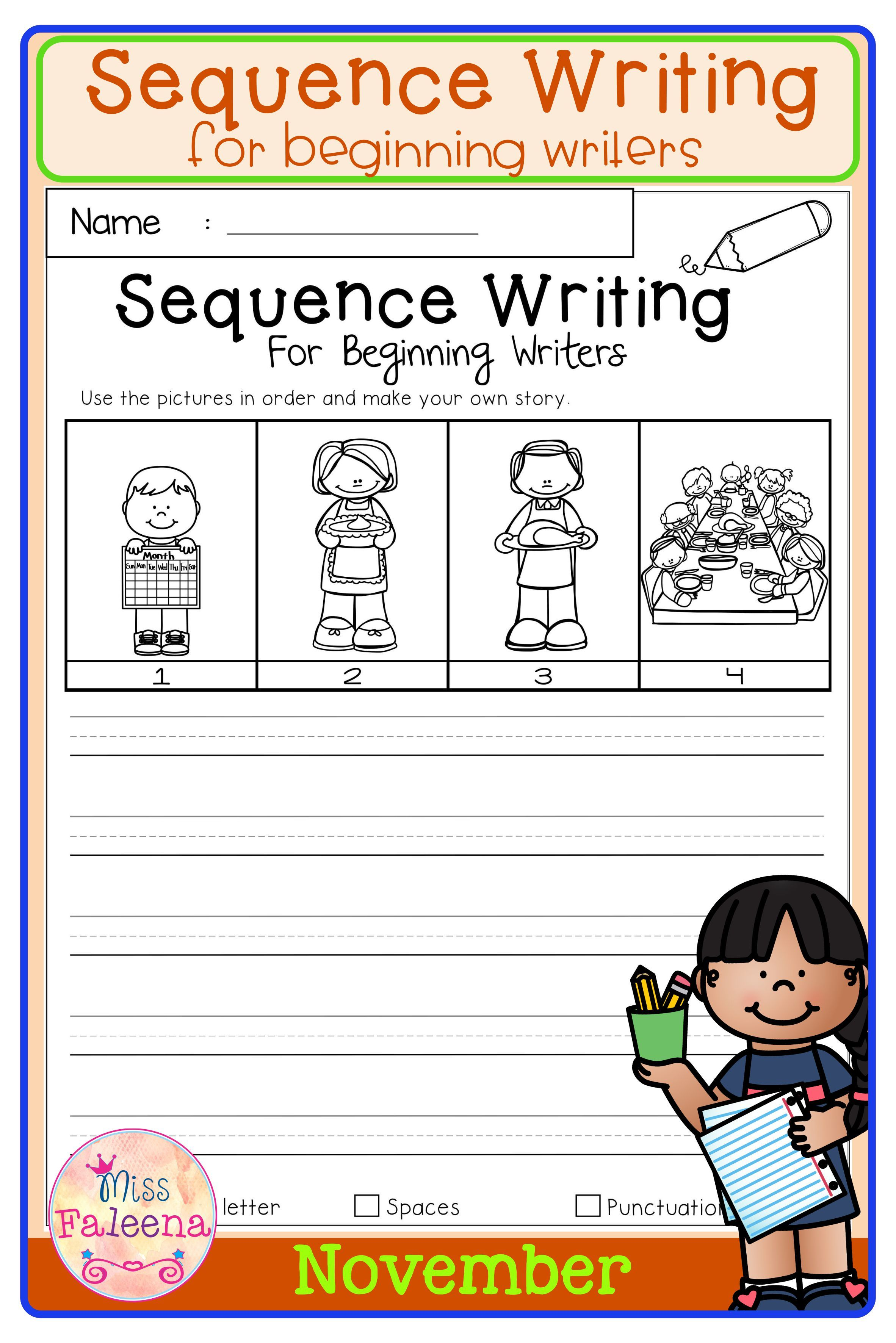 November Sequence Writing For Beginning Writers Teaching Writing Sequence Writing Elementary Curriculum [ 3544 x 2364 Pixel ]