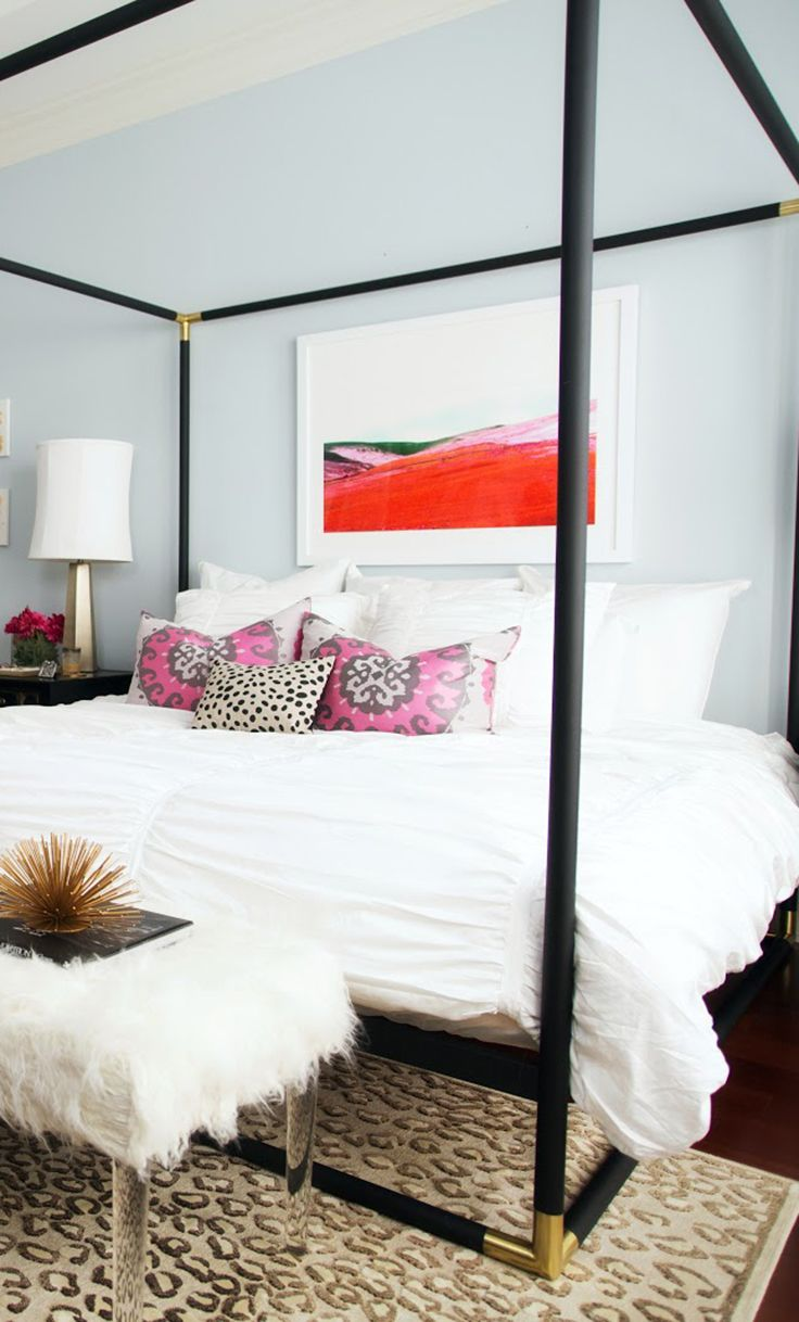 The Most Glamorous Bedroom Featuring A Canopy Bed And