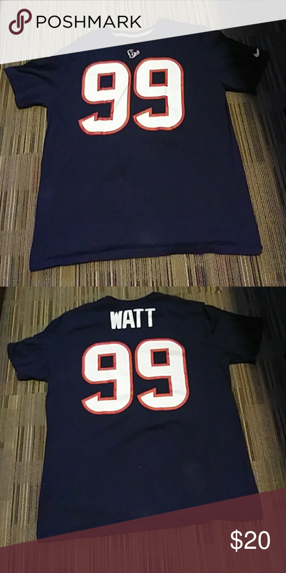 online store 42011 7e3c6 Houston Texans #99 JJ Watt name and number t-shirt Houston ...
