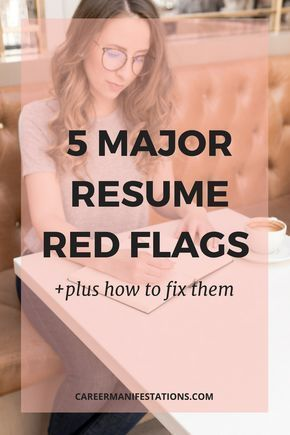5 resume red flags you want to avoid when job searching - Resume advice, Job resume, Resume writing tips, Job search, Job interview, Job interview tips - 5 red flags that you want to avoid when sending your resume or applying for a job online in your resume  Your resume needs to be ATS friendly and easily scannable by a recruiter to get past the ats you need to optimize your resume with a template and include measurable results to get an interview and get hired