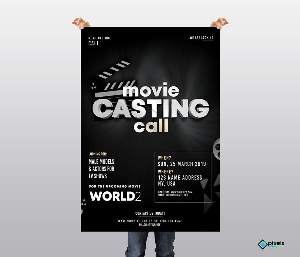 Contact Flyer Template