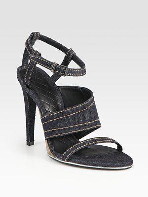 Bottega Veneta  Strappy Denim Sandals