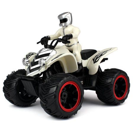 Velocity Toys ATV Road Racer Remote Control RC Car, Rechargeable, Big Size 1:10 Scale RTR (Colors May Vary)