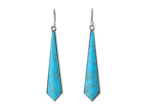 Lucky Brand Sahara Trails Long Turquoise Drop Earrings