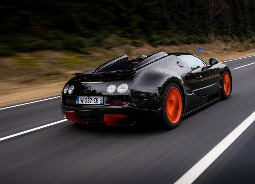 2013 Bugatti Veyron Grand Sport Vitesse Wrc Rear Side Angle View