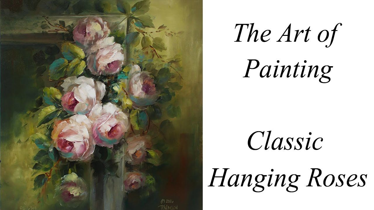 Classic hanging roses painting lessons and tips pinterest rose