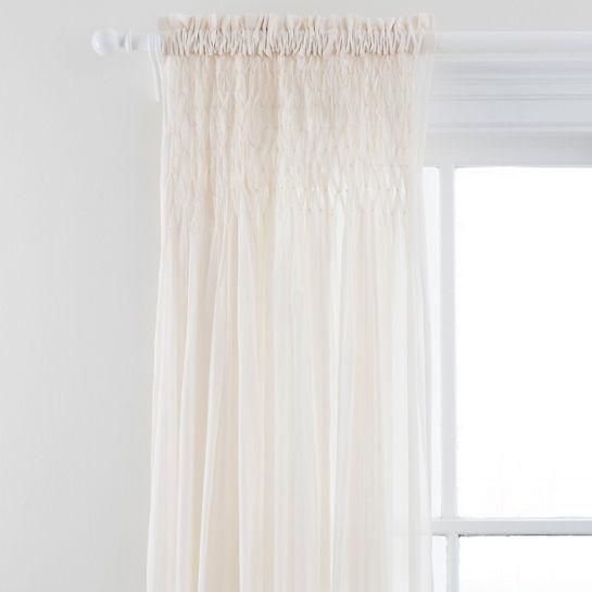Heirloom Voile Ivory Curtain Panel Ivory Curtains Curtains