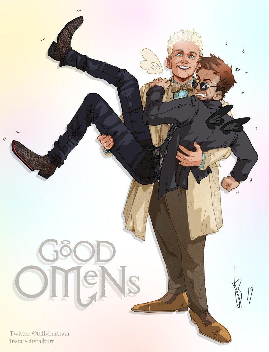 8) Good Omens fanworks (@GoodOmensArt) | Твиттер | mío :v en 2019
