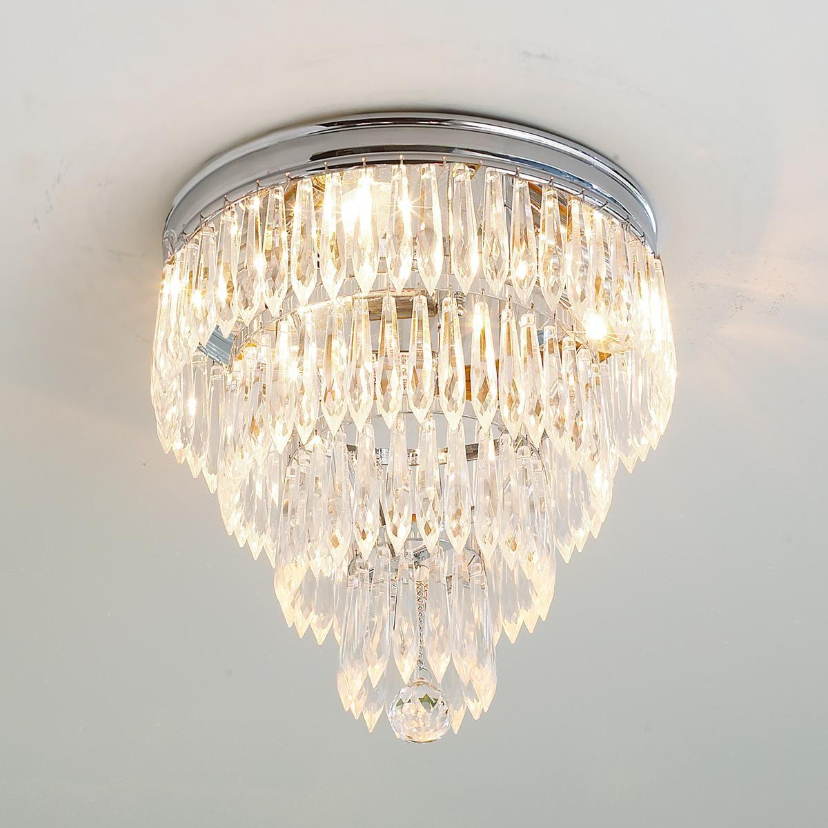 Bathroom Ceiling Lights Crystal Square : Framed crystal glam square ceiling light wedding cakes