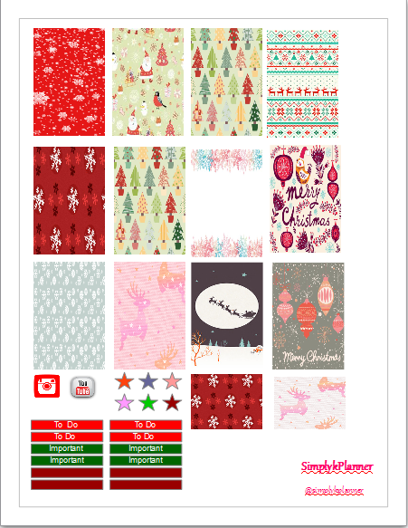 The happy planner free Christmas printable