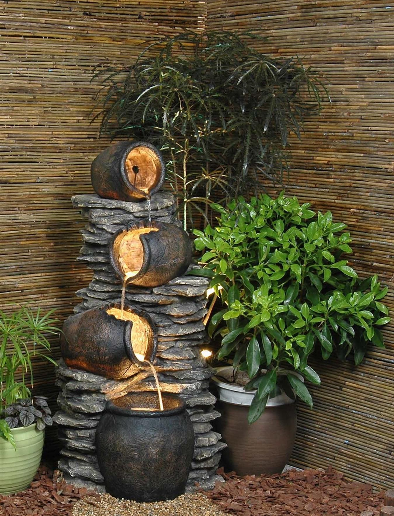 Wall Fountain Indoor Diy 8 Diy Water Fountain Diy Fountain Water Fountain Design