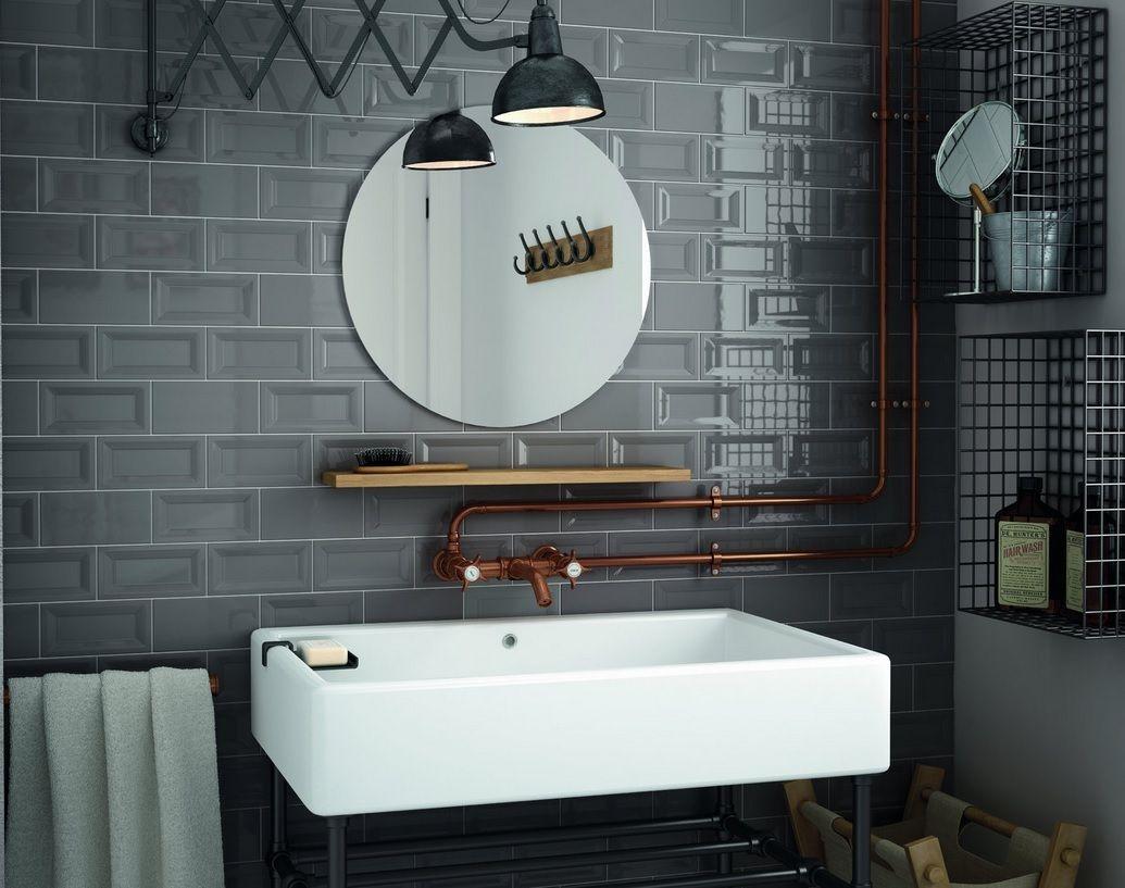 Dark Grey Stil Badezimmer Badezimmerbeleuchtung Keller Badezimmer Ideen