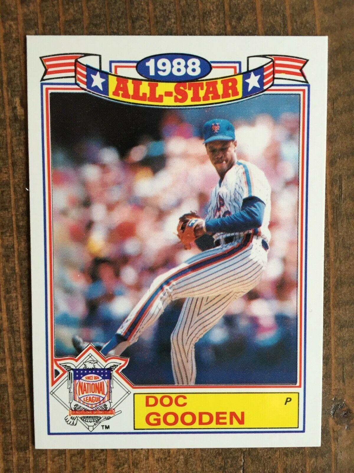 1989 topps 21 doc gooden 1988 all star card nmmt