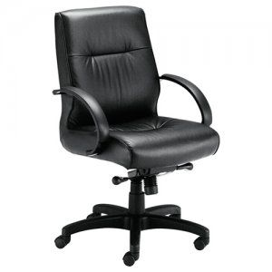 Sitwell Embrace Midback Conference Chair  SKU: B-35 Perfect for executive management, conferencing and guest. • In-stock black or brown top grain glove leather • Ships KD with minimal assembly • Durable poly arms • Deluxe knee tilt control