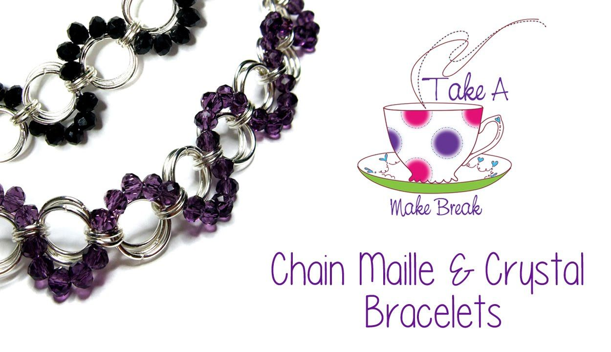 Video tutorial bracelet chain maille w beads by sarah millsop