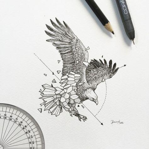 Pingl par sze teng sur tattoo pinterest tatouage animal id es de tatouages et tatouages - Tatouage animaux geometrique ...