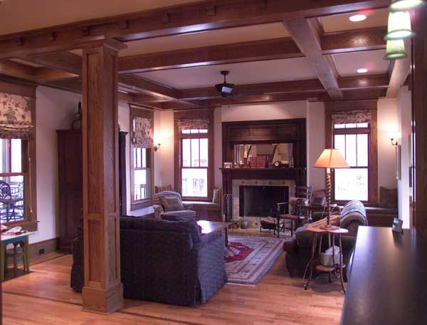 Bungalow Fireplace Mantel A New Foursquare Home With Bungalow Details | Craftsman