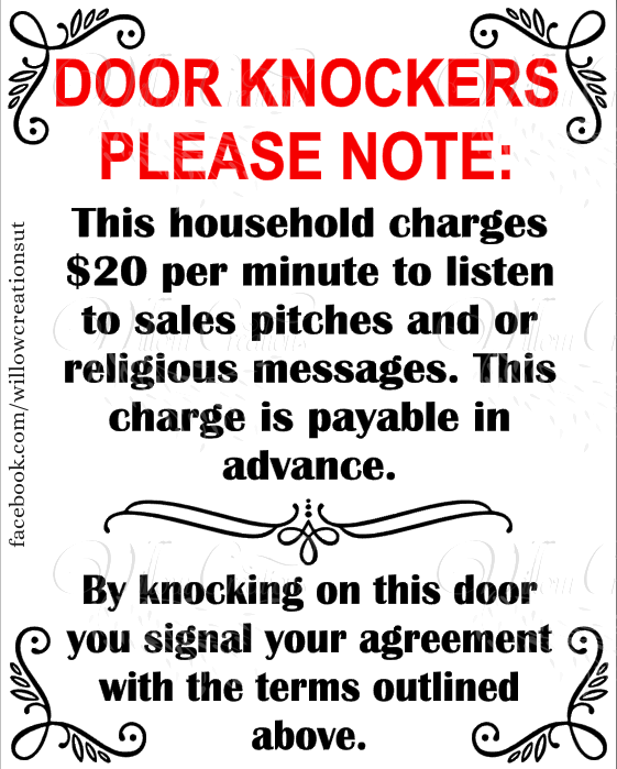 Door Knockers Please Note ... printable sign  sc 1 st  Pinterest & Door Knockers Please Note ... printable sign | Printables ...