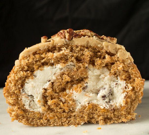 Sweet Potato Rum Roll Cake