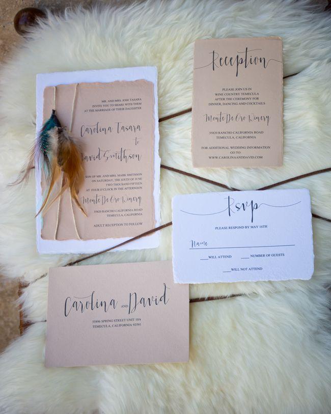 San Diego Style Weddings: Modern Santa Fe   Paper Villa Stationery   PC: Equinox Photo