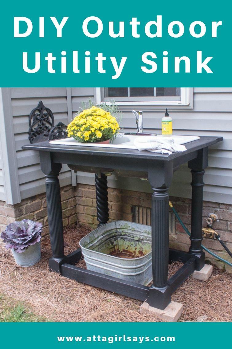 Diy Outdoor Farmhouse Sink Outdoor Sinks Diy Outdoor Outdoor