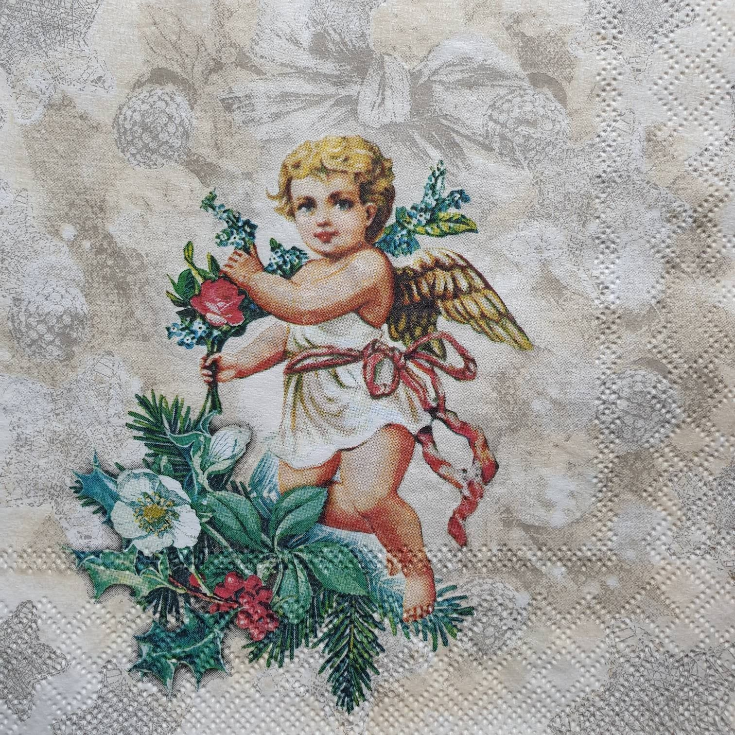 Beautiful Angel Paper Napkins perfect for Decoupage, Vintage Style Paper Napkins, Lunch Napkins,Stunning Napkins, Decoupage Paper Collection