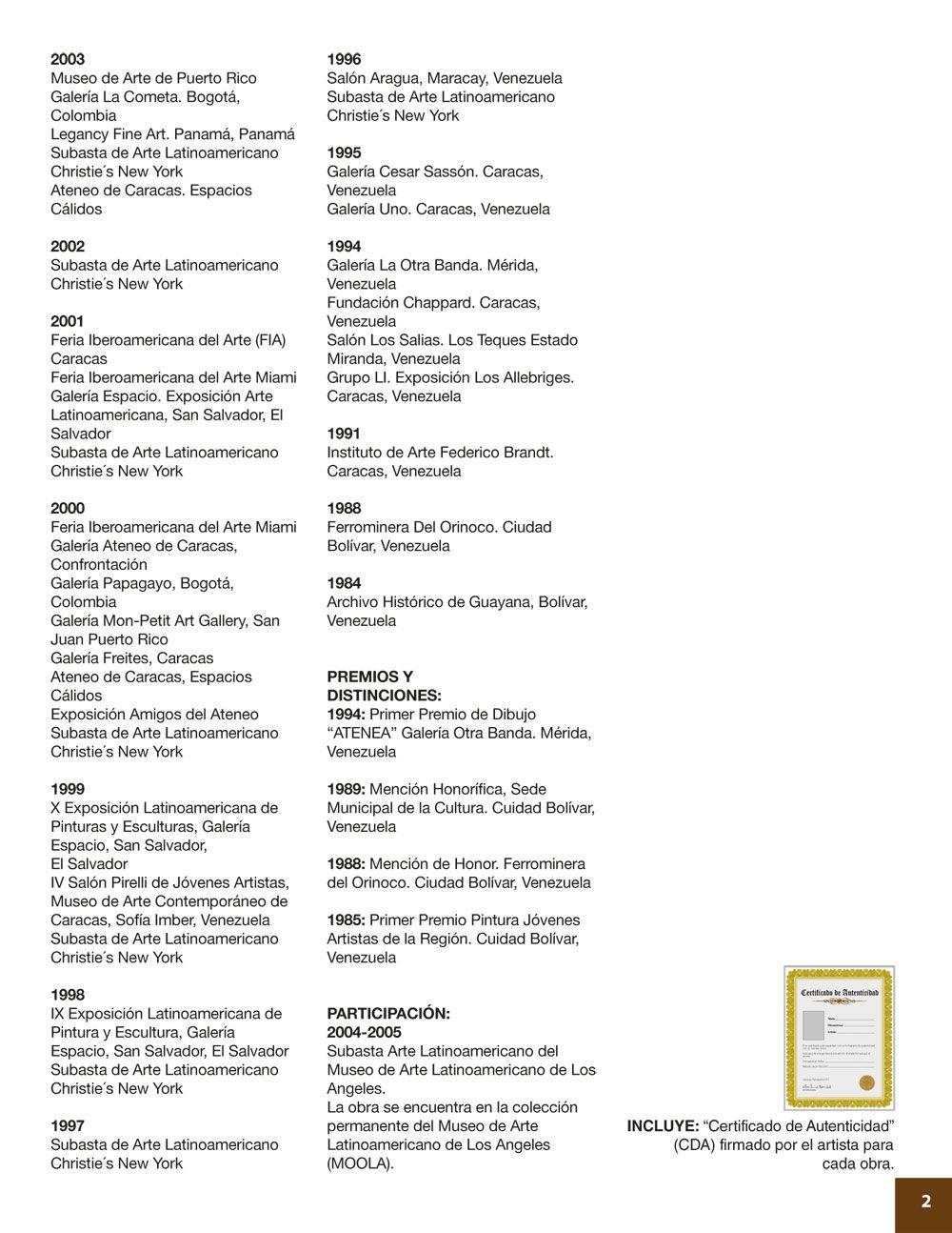TRINO SÁNCHEZ - - Curriculum (Parte 2) | MAESTROS / ARTISTAS para ...