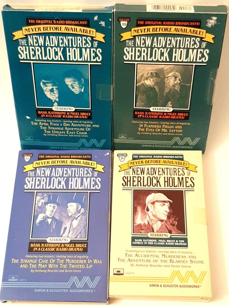 Lot Of 4 New Adventures Sherlock Holmes Audio Cassette Books Etsy In 2021 Sherlock Holmes Sherlock Radio Drama