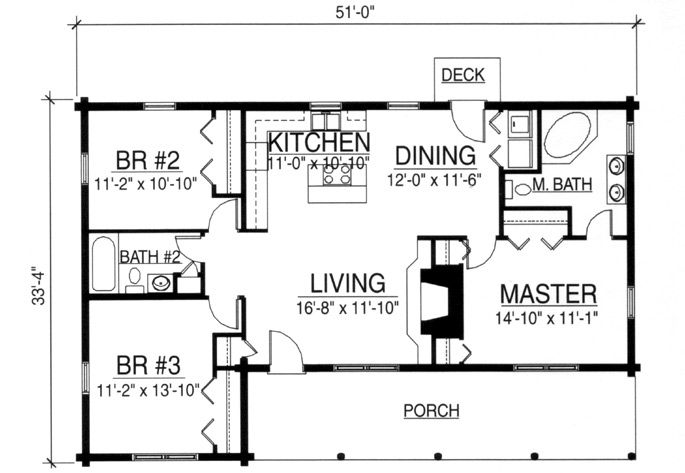 Small log cabin floor plans just a sample of available Simple log home floor plans