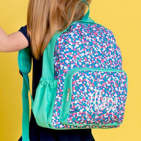 Monogrammed Preschool Backpack-Preschool Backpack-Confetti Dot Preschool  Backpack-Polka Dot Preschoo ad3f6254df0a6
