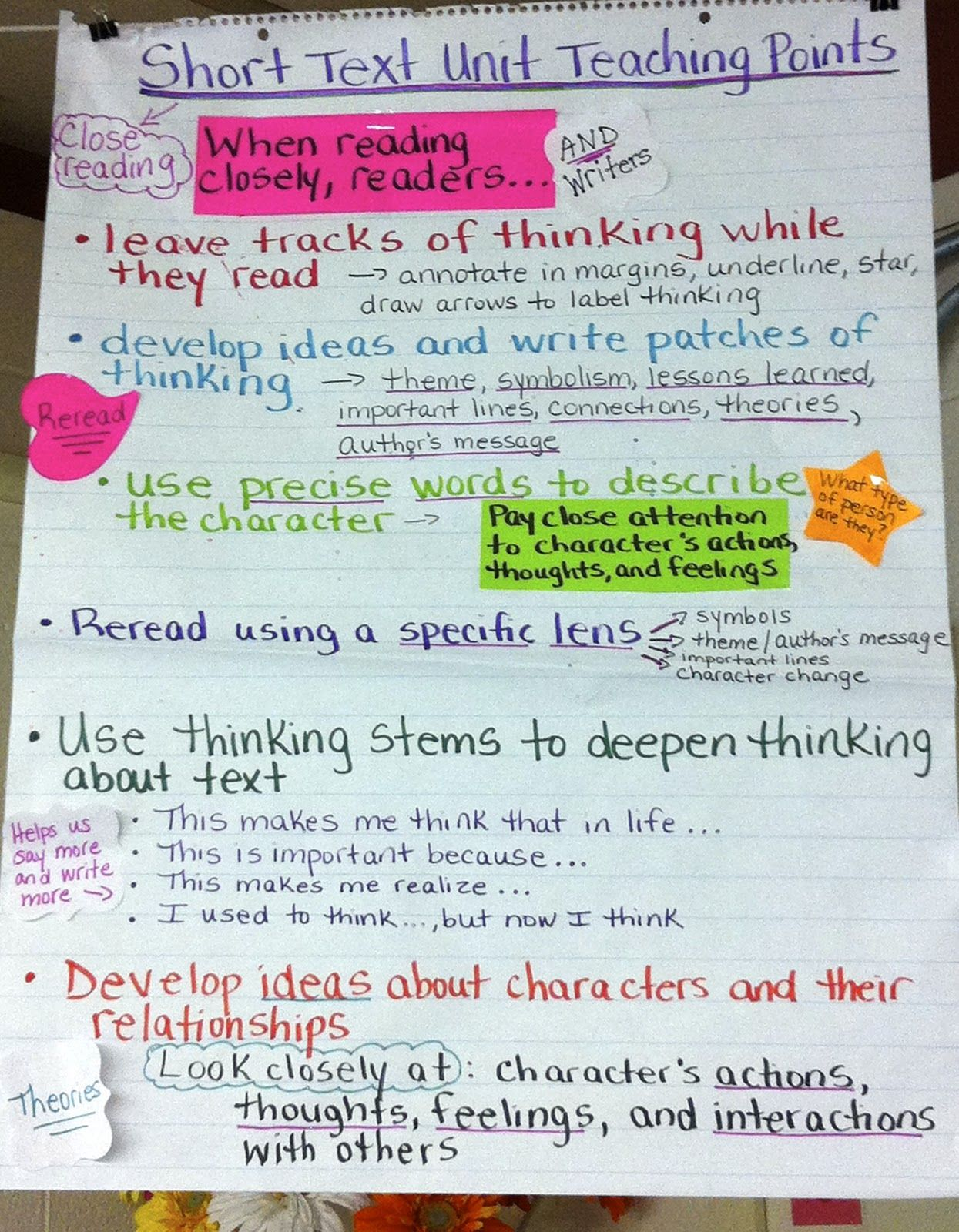 Two Reflective Teachers Close Reading And Literary Essay Unit