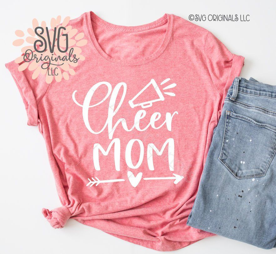 4b36c126a819 Cheer Mom SVG File Cheer Mom Shirt SVG Cheer Mom Squad | Etsy ...
