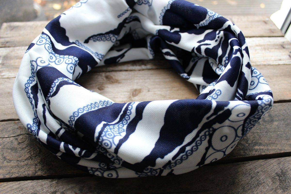 Loop-Schal blau-weiß | selfmade with love | Pinterest | Schal blau ...