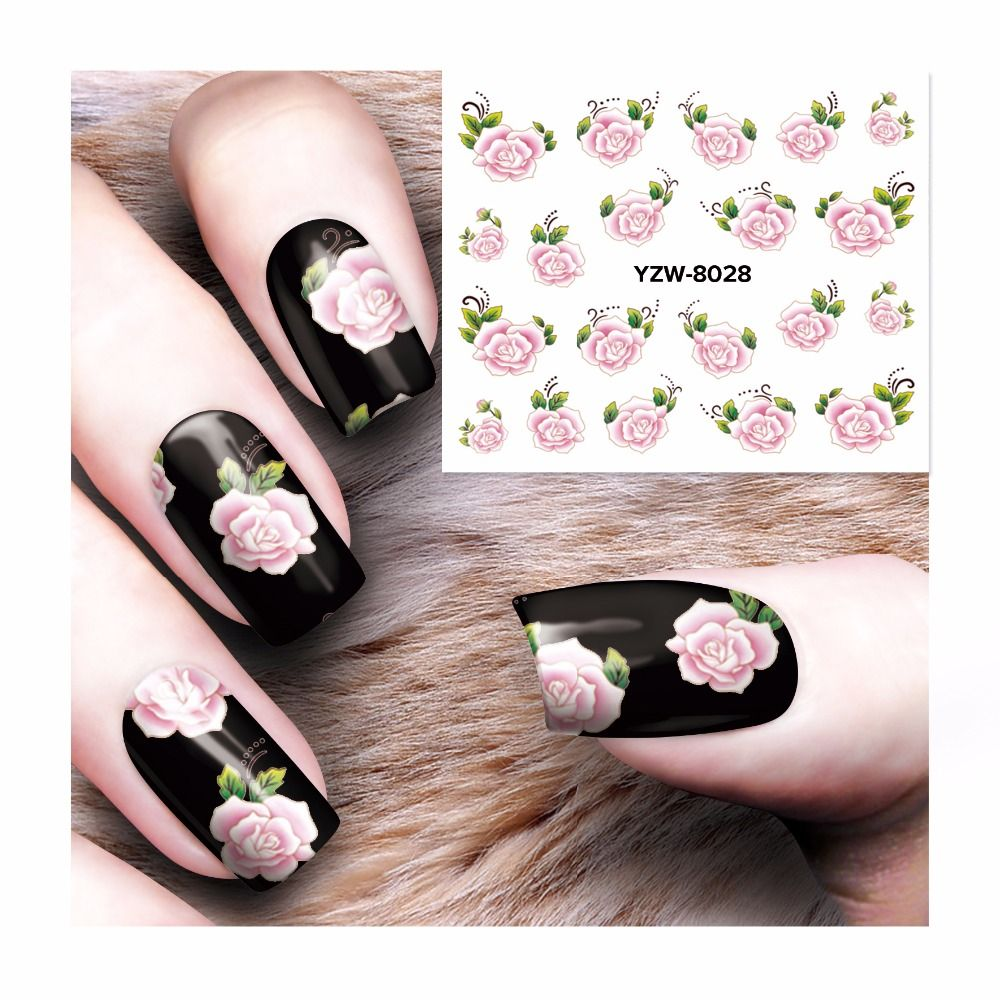 Lcj Water Transfer Nail Art Sticker Decal Foil Adhesive Manicure