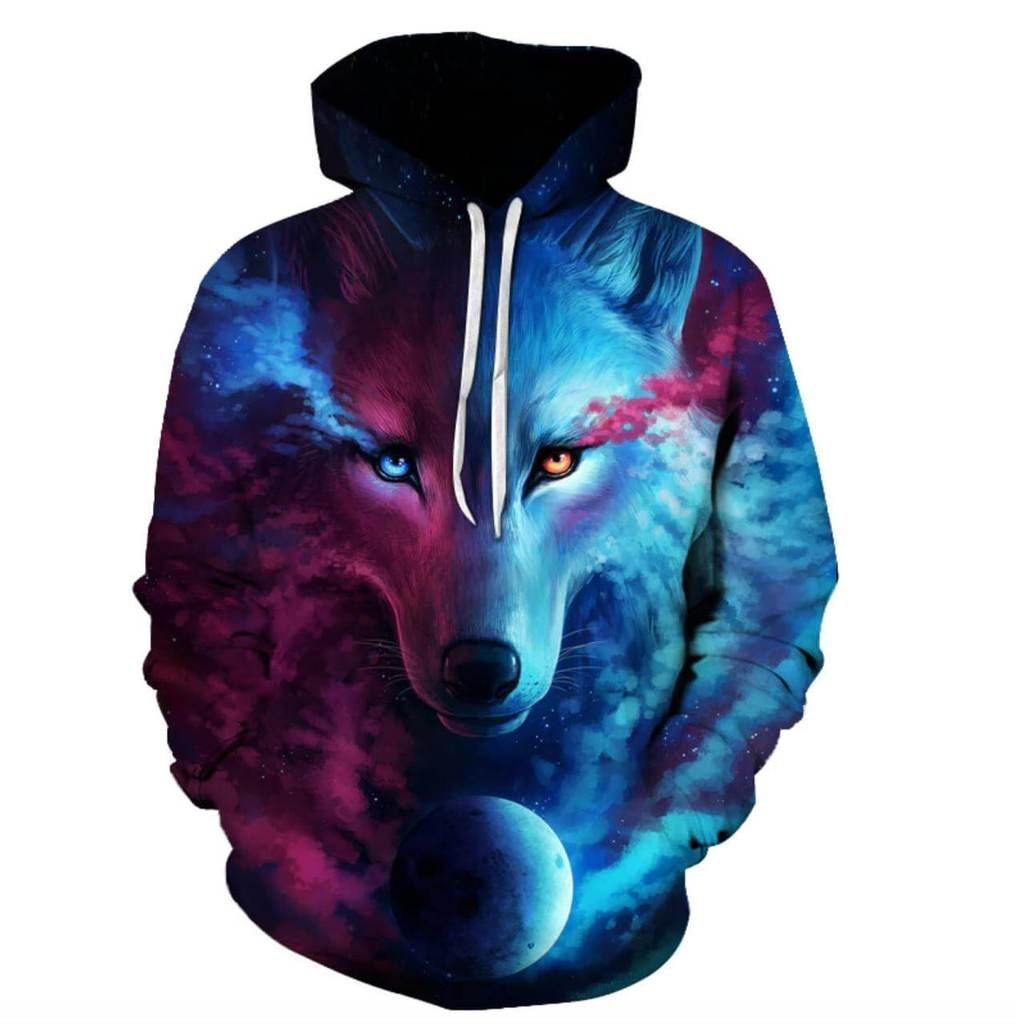3bfedd1ecfa Wolf Printed Unisex Hoodies - Where Light and Dark Meet – Sour Grapes Online