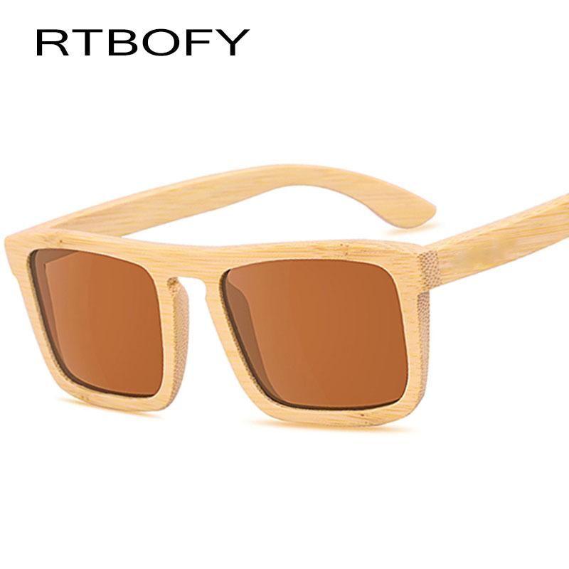 872450e4c6 RTBOFY Wood Sunglasses Women Polarized Lens Men Glasses Bamboo Frame Eyewear  New Designer  UV400  boating  sunglasses  retro  fun  adventure   bambooshades ...